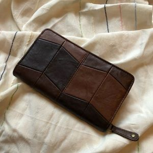 Faux leather clutch/wallet